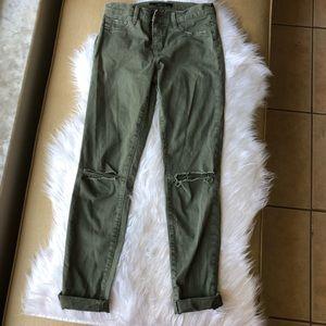 Women's J Brand green distressed jeans size 26